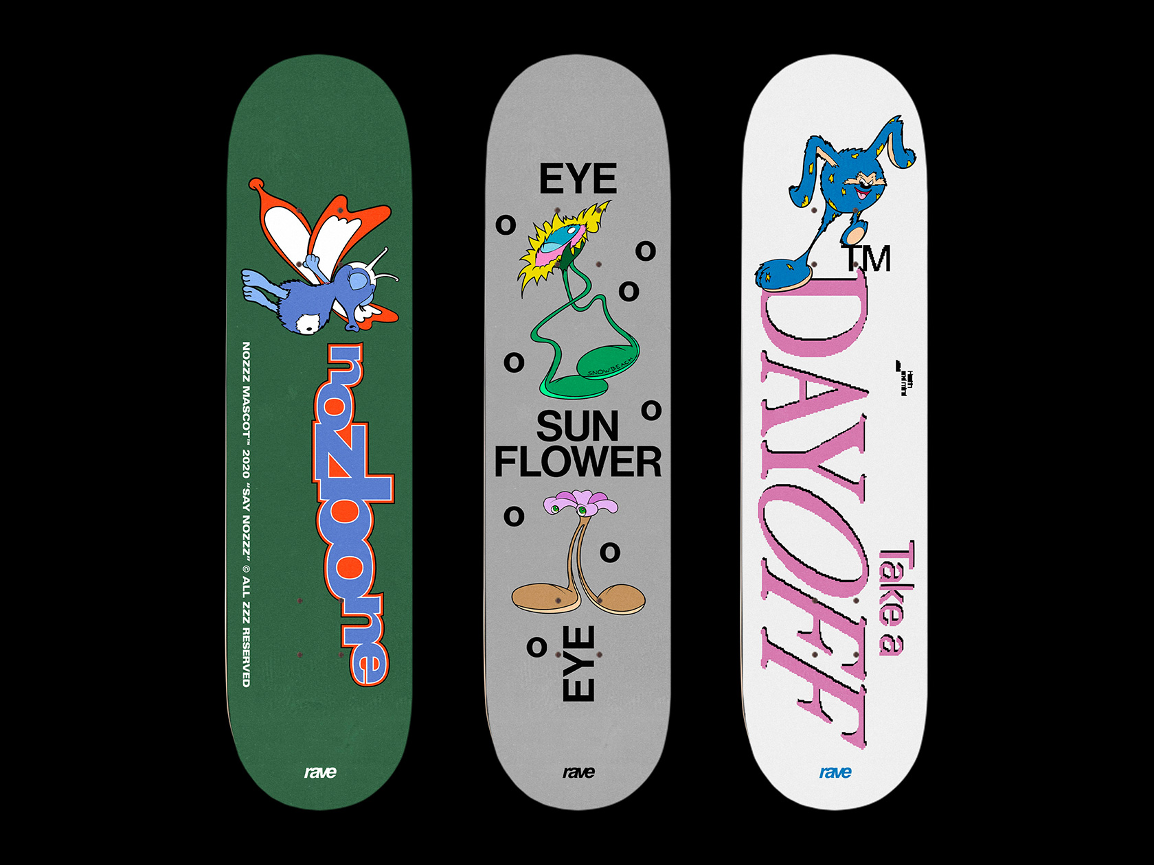 00 collide24 Camille Bourdon Arthur Nabi - Camille Bourdon and Arthur Nabi's deck designs celebrate the playfulness and funkiness of skateboard culture