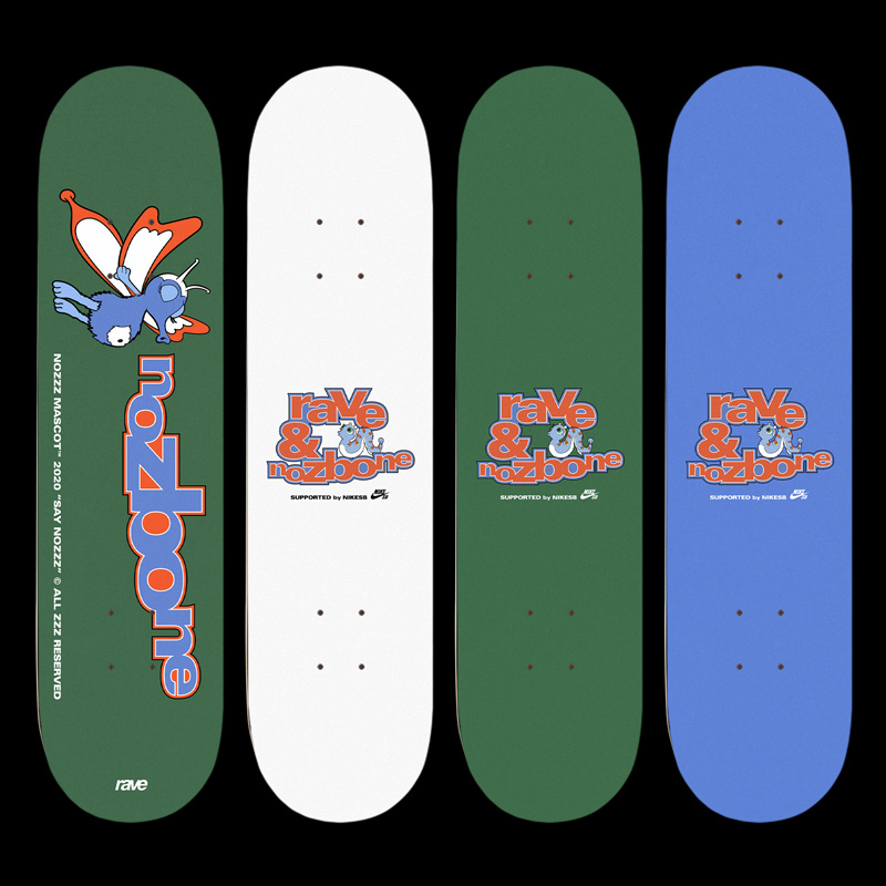 01 collide24 Camille Bourdon Arthur Nabi - Camille Bourdon and Arthur Nabi's deck designs celebrate the playfulness and funkiness of skateboard culture
