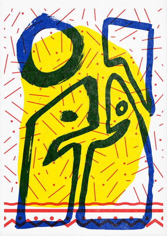"09 collide24 Stay at home print club - The collaborative ""Stay at Home Print Club"" by Superkolor connects artists worldwide and spreads positivity in times of crisis"
