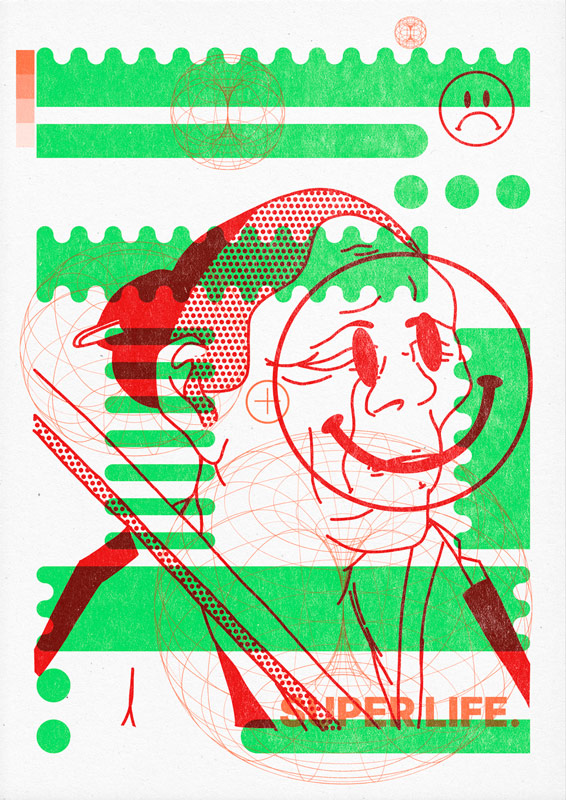 "10 collide24 Stay at home print club - The collaborative ""Stay at Home Print Club"" by Superkolor connects artists worldwide and spreads positivity in times of crisis"