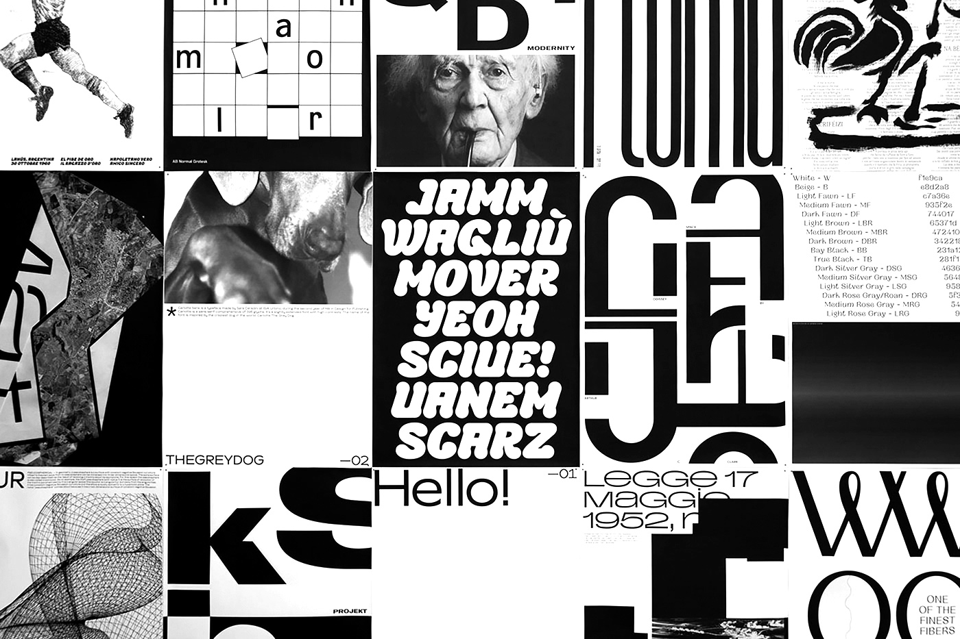 "12 collide24 New Wave - The Exhibition ""New Wave"" showcases eleven contemporary typefaces by fourteen talented designers"
