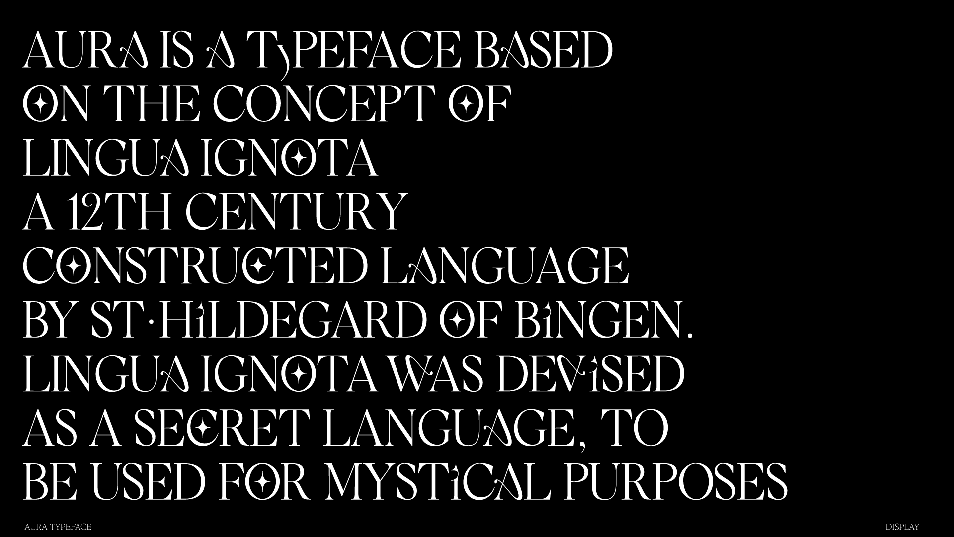 "05 collide24 pngtypeface aura - Studio Nari and Margot Lévêque on their typeface ""Aura"", a modern interpretation of the mystical language Lingua Ignota"