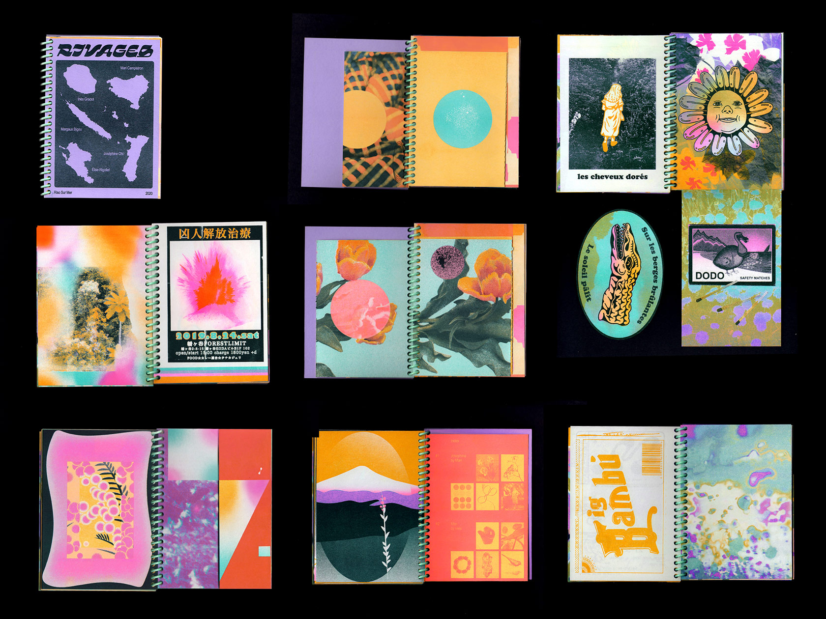 Riso sur Mer is a experimental riso-printing collective, collaborating across continents