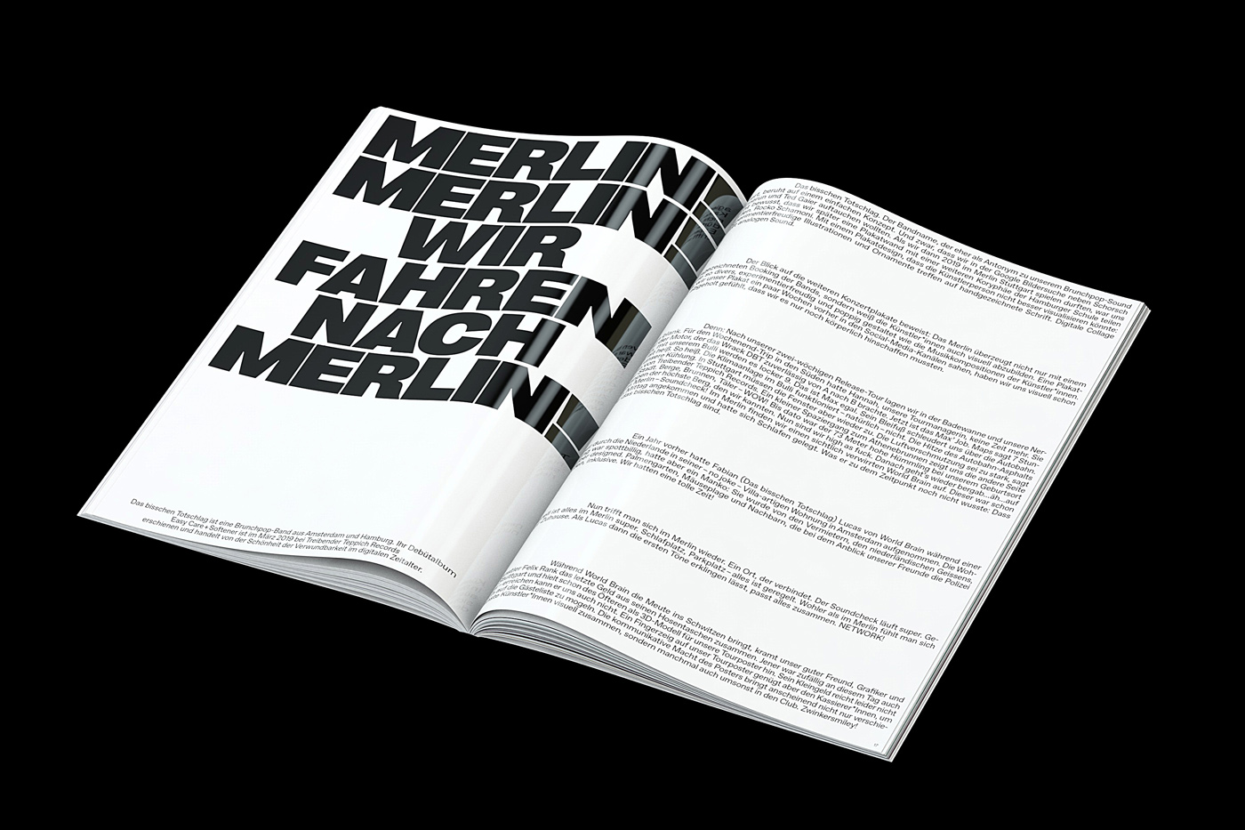 01 collide24 Mark Bohle Raffael Kormann - Mark Bohle and Raffael Kormann turn their 80-piece collection of posters for Kulturzentrum Merlin into a playful publication