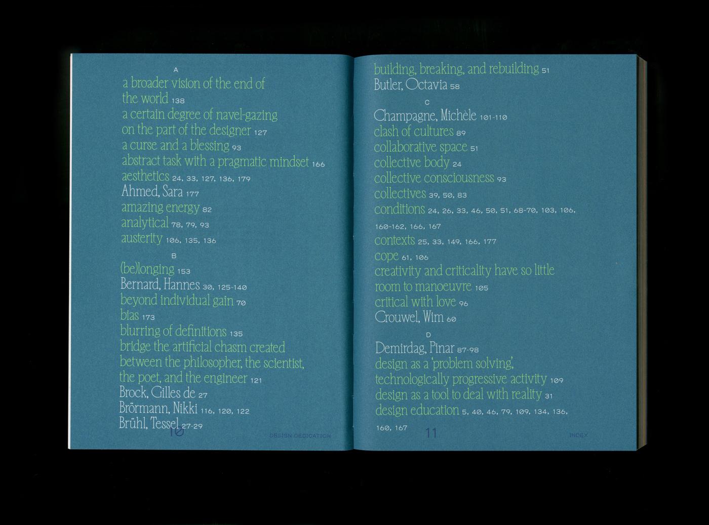 20 collide24 Tessa Meeus Alex Walker Design Dedication - Tessa Meeus and Alex Walker talk us through the creative process behind the book 'Design Dedication', edited by Annelys de Vet and published by Valiz