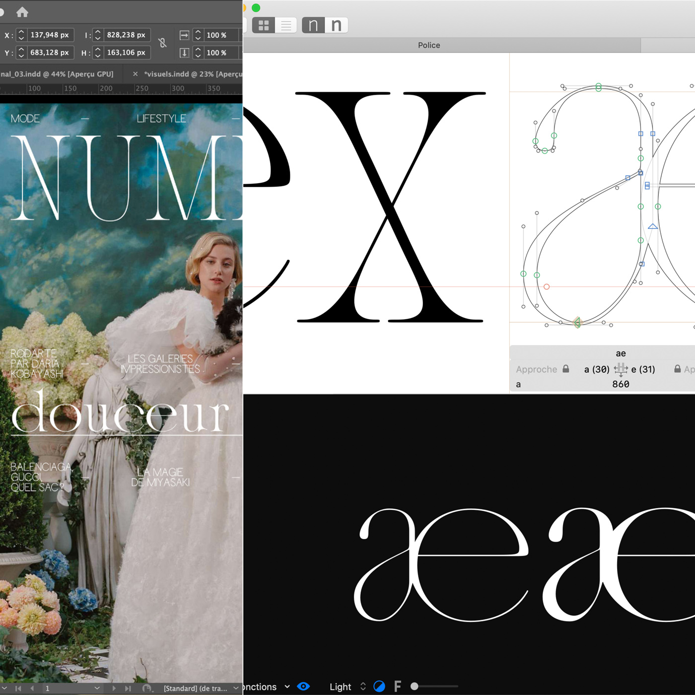 04 collide24 Lou Rainaldo Anne Dauphine Borione - The typeface 'Aliénor' by Anne-Dauphine Borione and Lou Rainaldo is a mixture of elegance and extravagance
