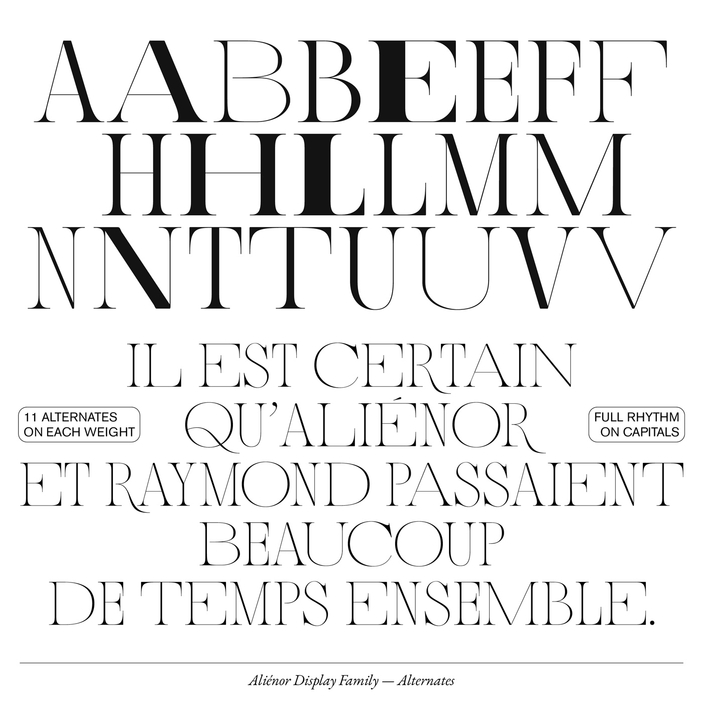 05 collide24 Lou Rainaldo Anne Dauphine Borione - The typeface 'Aliénor' by Anne-Dauphine Borione and Lou Rainaldo is a mixture of elegance and extravagance