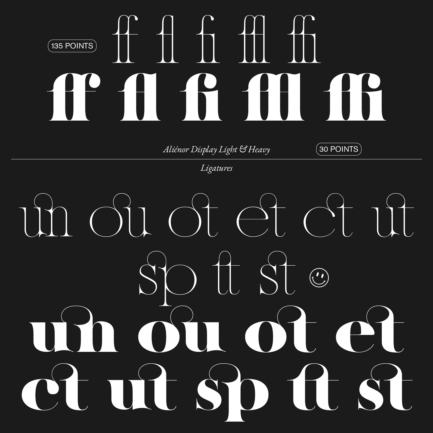 07 collide24 Lou Rainaldo Anne Dauphine Borione - The typeface 'Aliénor' by Anne-Dauphine Borione and Lou Rainaldo is a mixture of elegance and extravagance
