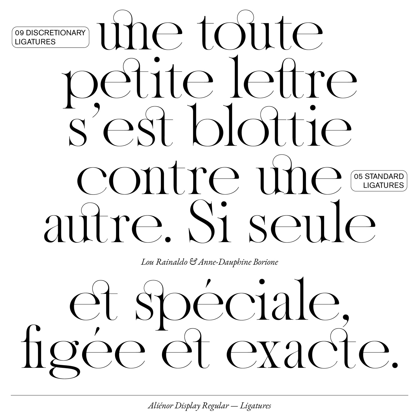 08 collide24 Lou Rainaldo Anne Dauphine Borione - The typeface 'Aliénor' by Anne-Dauphine Borione and Lou Rainaldo is a mixture of elegance and extravagance