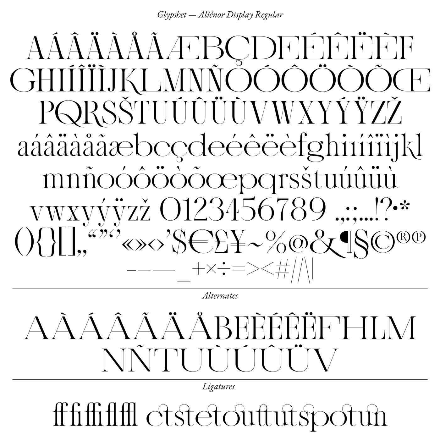 10 collide24 Lou Rainaldo Anne Dauphine Borione - The typeface 'Aliénor' by Anne-Dauphine Borione and Lou Rainaldo is a mixture of elegance and extravagance