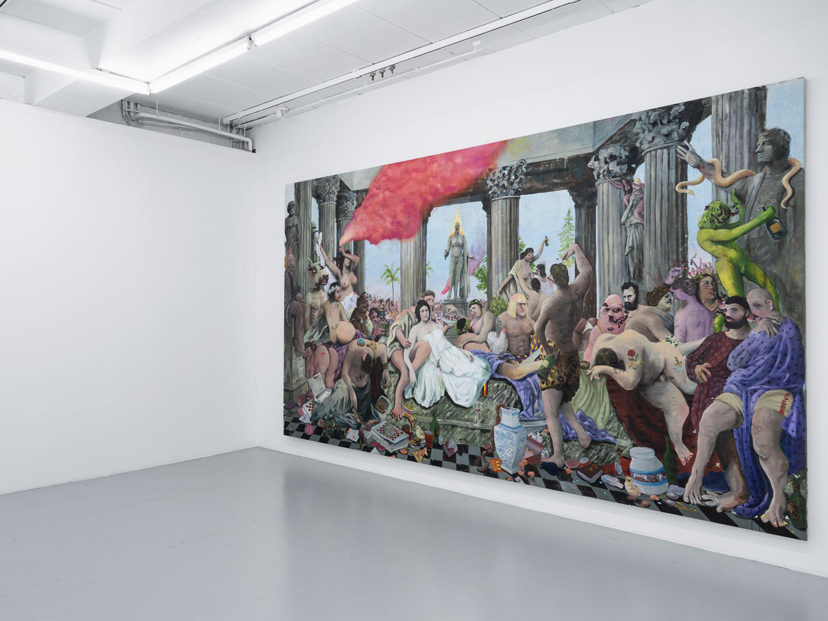 The exhibition 'Reality Kings' by Willehad Eilers and Philip Mueller sheds light on the ignorance, beauty, and wastefulness of society