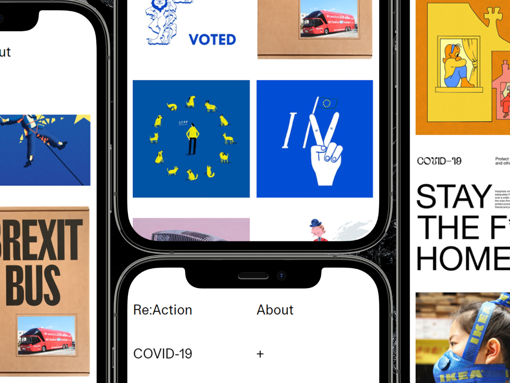 Re:Action serves as an inspiring digital archive for the creative community's response to world events