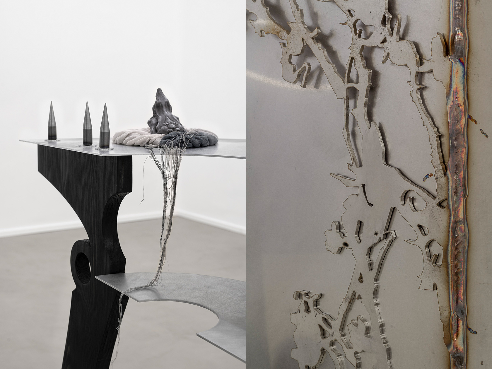 Ula Lucińska and Michał Knychaus from Inside Job on how they combine ancient aesthetics and contemporary art in their recent exhibition 'Breathing in the Shallows'